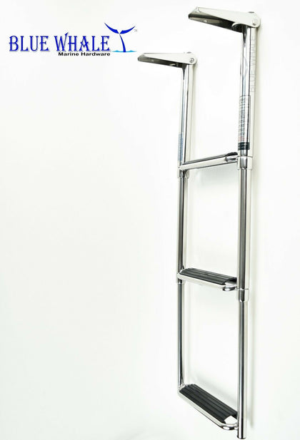 2 PCS Strong S.S. 3-Step Ladder USA BL73561531 - Blue Whale Marine Hardware