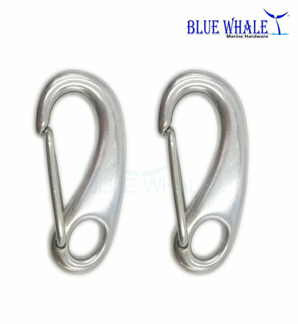 2PCS 316 S.S. Egg-Shaped Spring Snap Hook 2-1/2