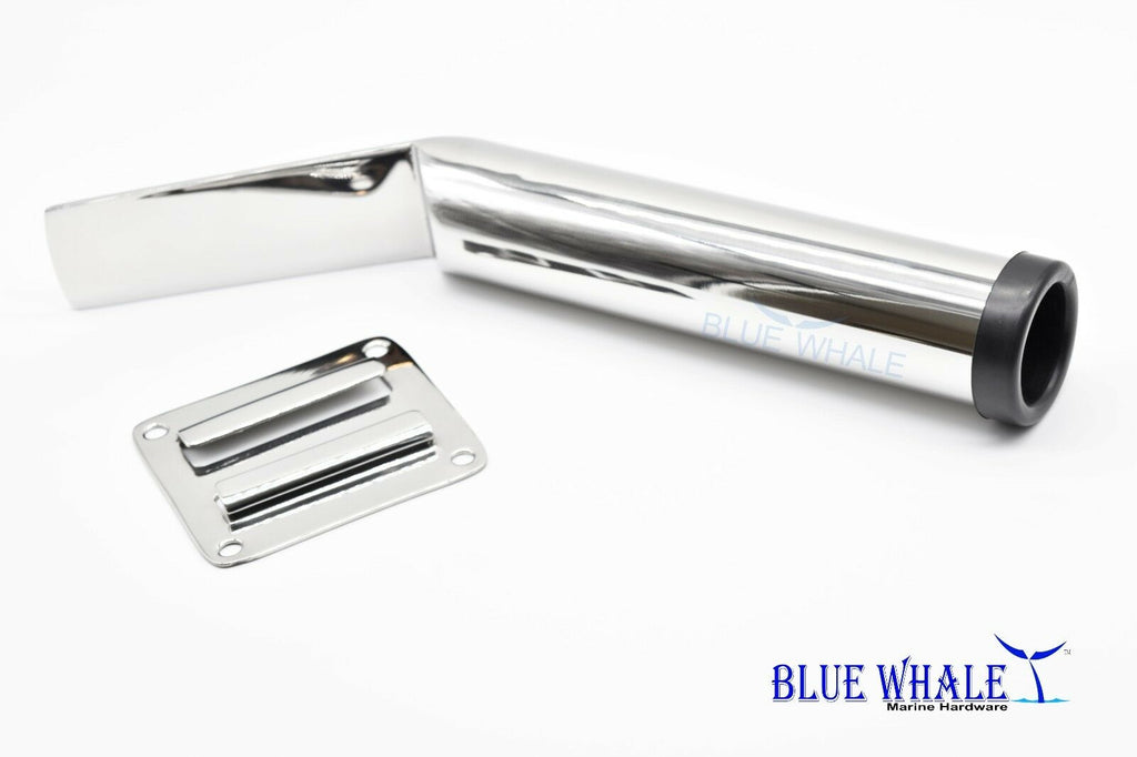 4PCS BLUE WHALE Marine Stainless-Steel Slide Mount Removable Fishing Rod Holder