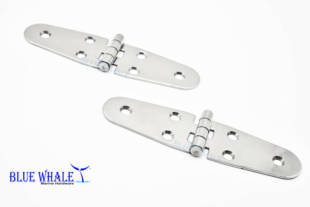 "304 S.S. Round Side Door Strap Hinge 5-5/8"" ×1.5"" (2PCS) BL74510128"