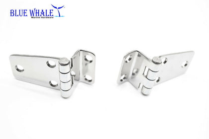 "2PCS BLUE WHALE Stainless Steel 5 Holes Short Side Offset 2-5/8"" ×1-7/16"" Hinge - Blue Whale Marine Hardware"