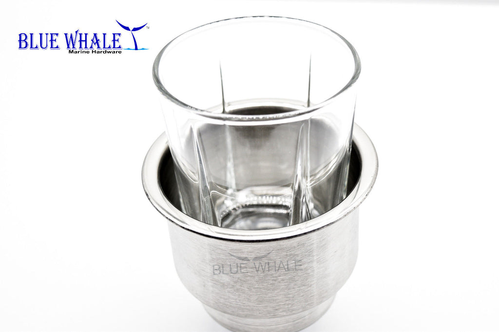 2PCS Stainless Steel Holders Use As Cup Holder With Center Drain Hole BL96573082