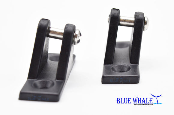 2PCS Blue Whale Hardware Bimini Tops Nylon Black 80 Degree Deck Boat Hinges USA BL12615667 - Blue Whale Marine Hardware