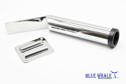 2PCS Marine Stainless-Steel Slide Mount Removable Fishing Rod Holder BL77510140 - Blue Whale Marine Hardware
