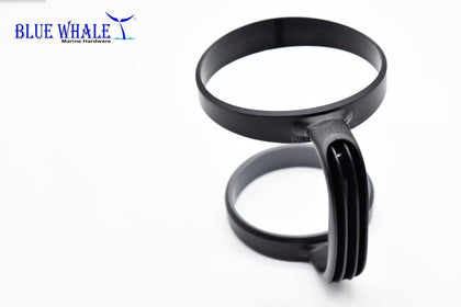 Adjustable Black Polypropylene Drink Cup Holder With Handle For 30oz Tumbler Boat BL32610077 - Blue Whale Marine Hardware