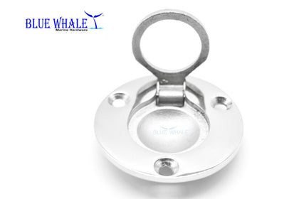 316 S.S. Round Flush hatch Lift Ring/Deck Hatch Pull Handle USA BL32510241 - Blue Whale Marine Hardware