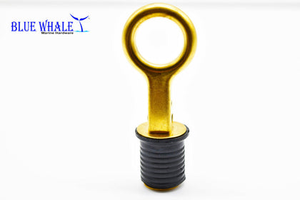 Brass Snap Handle Drain Stopper | Buy Drain Plug and Drain Boat Drain Plug - Blue Whale Marine Hardware