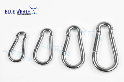 A Set of 4 316 S.S. Carabiner Snap Hook USA BL310056780094 - Blue Whale Marine Hardware