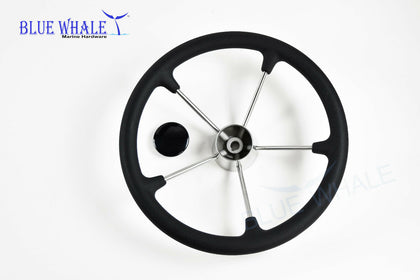 Boat steering Wheel w/ Black Foam baystar hydraulic steering - Blue Whale Marine Hardware