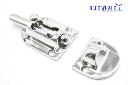 "S.S. Heavy-duty Barrel Bolt Door Latches (3-1/2"" × 1-1/2"") BL12550909 - Blue Whale Marine Hardware"