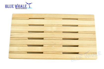 Slatted Bed Base and Folding Bench Seat, Flip Bench Shower Teak Board for Boat BL31122499 - Blue Whale Marine Hardware