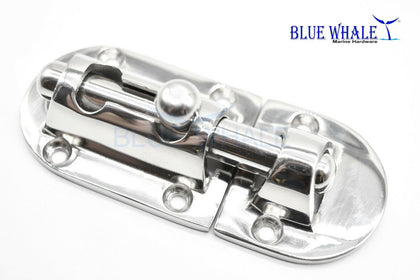 Zinc Plated Barrel Bolt | Magnetic Door Latch with Barrel Bolt | Bolt Lock - Blue Whale Marine Hardware