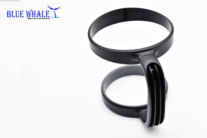Black Polypropylene kayak cup holder Handle mug holder - Blue Whale Marine Hardware