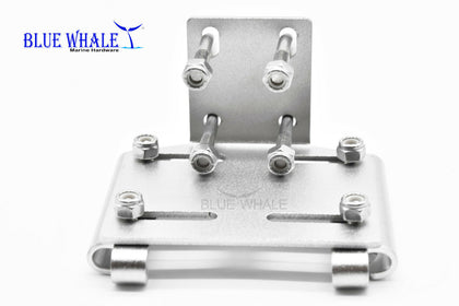 Horizontal Stanchion clamp on rod holders - Blue Whale Marine Hardware