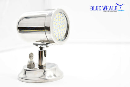 316 S.S. Swivel Head White LED Cabin/Reading/Chart Light BL30310199 - Blue Whale Marine Hardware