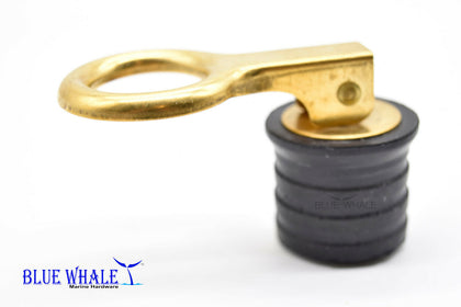 Brass Snap Handle Drain Plug (Size:1-1/4