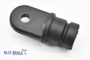 "Black Bimini Top Round Nylon Inside Eye End-O.D. 7/8"" Tube Made Of Nylon - Blue Whale Marine Hardware"