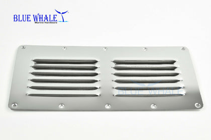 Air Vent wall exhaust fan Stainless Steel Rectangle Louvered Vent - Blue Whale Marine Hardware