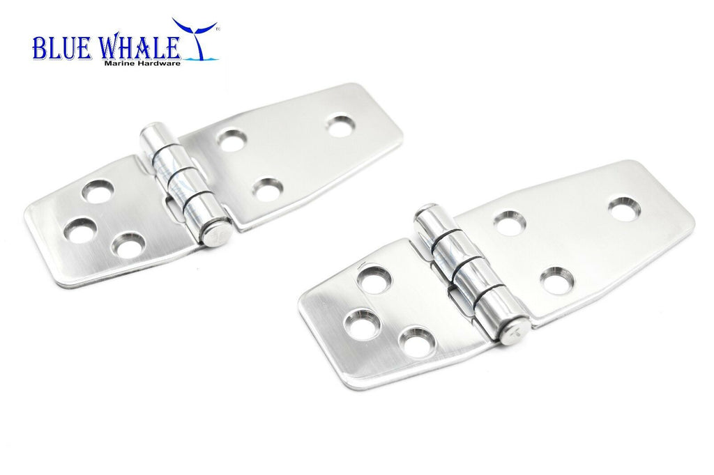 "4PCS S.S. Short Sided Door Hinge (Size:3-7/8"" ×1-1/2"") BL74510136"