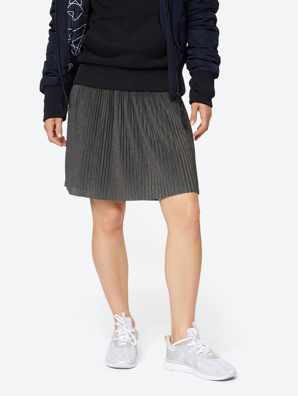 Pleated Skirt With Elasticated Waistband