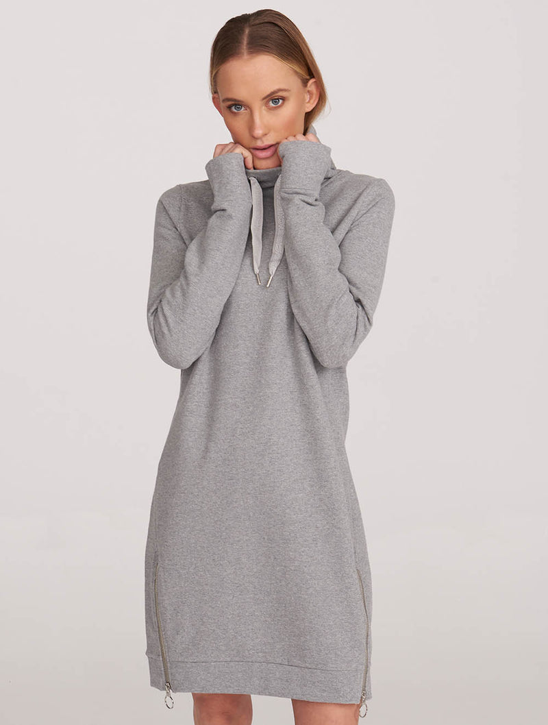 Sweat Dress Zip Detail