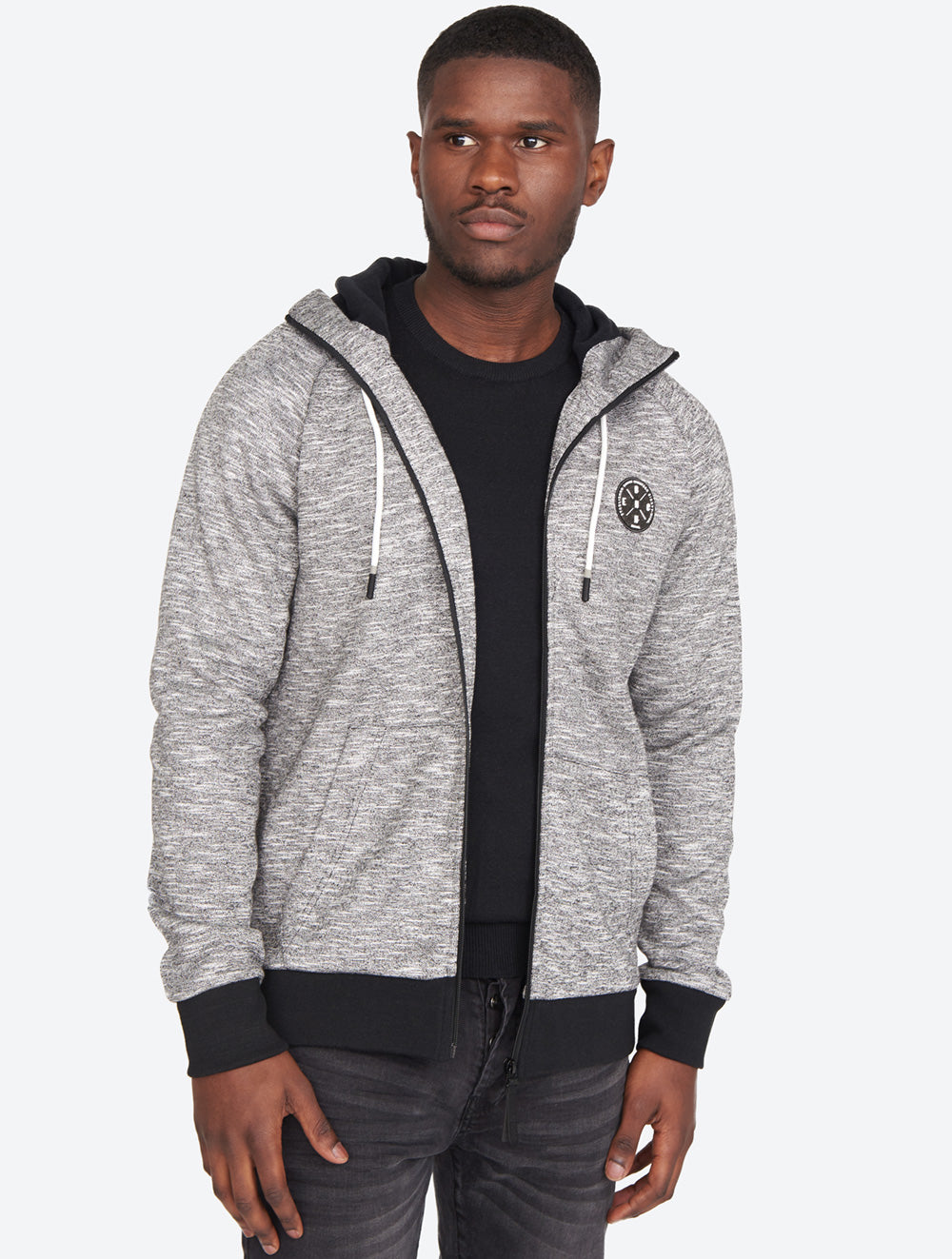 Funnel Neck Zip-up Hoodie