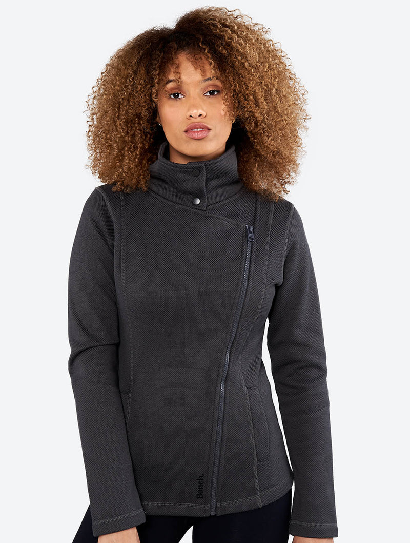 Tally Funnel Neck Zip-up Sweater