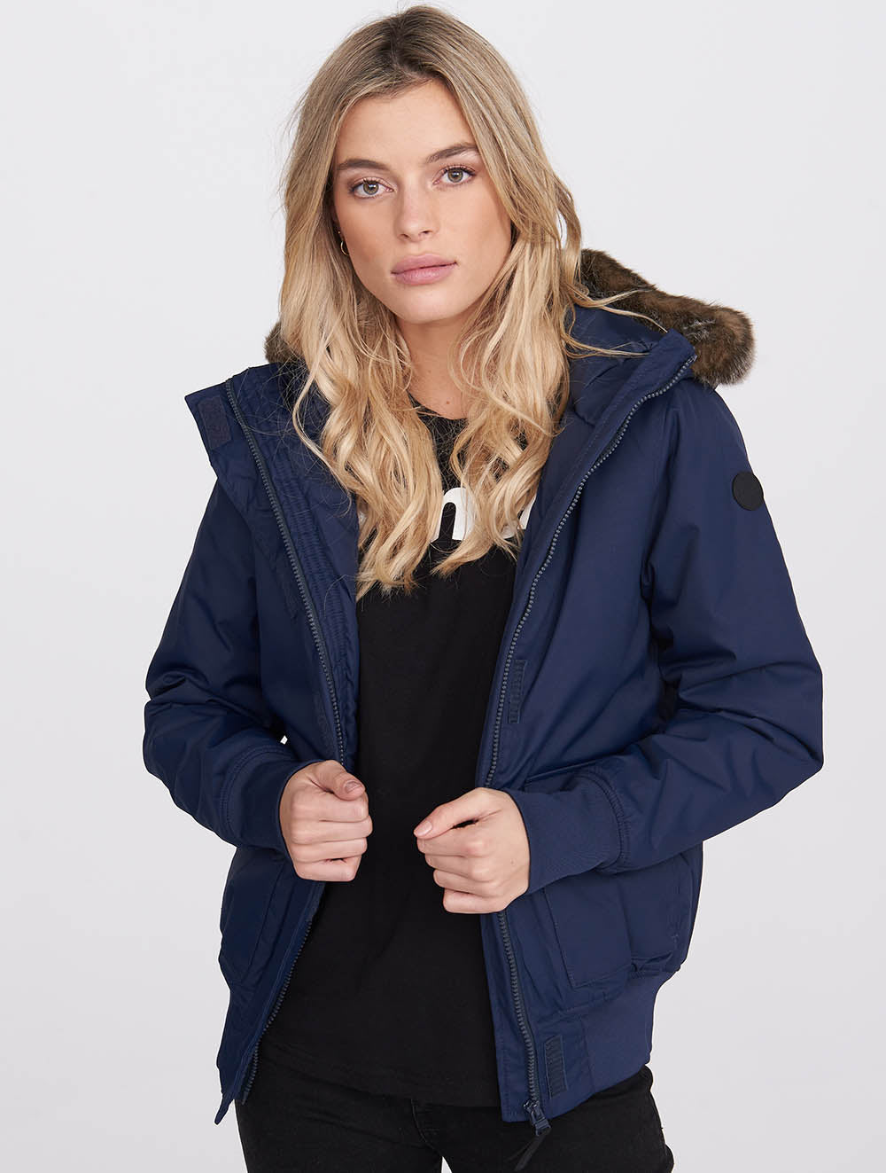 Water Repellent Short Bomber Jacket
