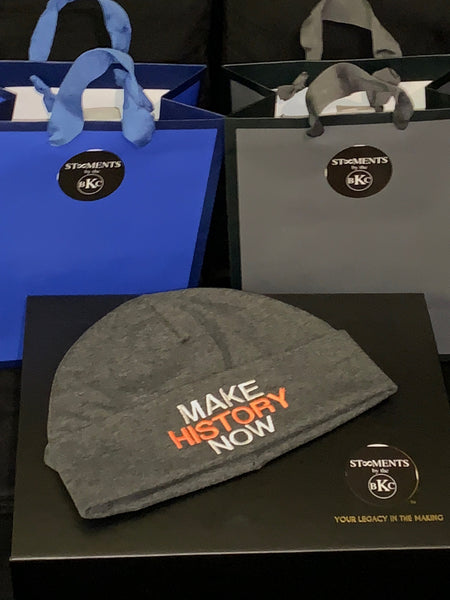 MHN -  Dark Grey & Orange Beanie