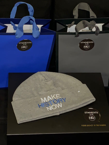 MHN - Grey & Royal Blue Beanie
