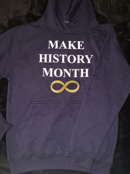 Make History Month Hoodie - Navy, White, & Gold (Unisex)