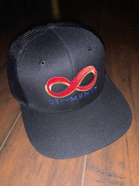 St8ment Logo Snapback - Black, Red, Gold, & Royal Blue
