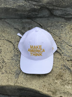 MAT - Classic White & Gold Dad Hat