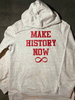 Make History Now Hoodie - Grey & Red (Unisex)
