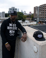Make History Now Hoodie - Black & White (Unisex)