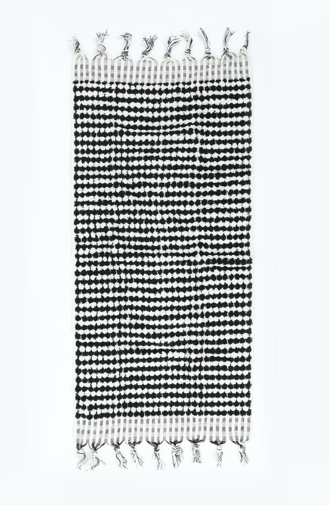 CRESCENT HAND TOWEL - BLACK & WHITE