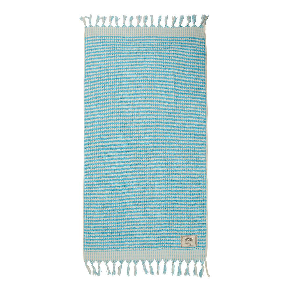 CRESCENT TOWEL - MINT & WHITE