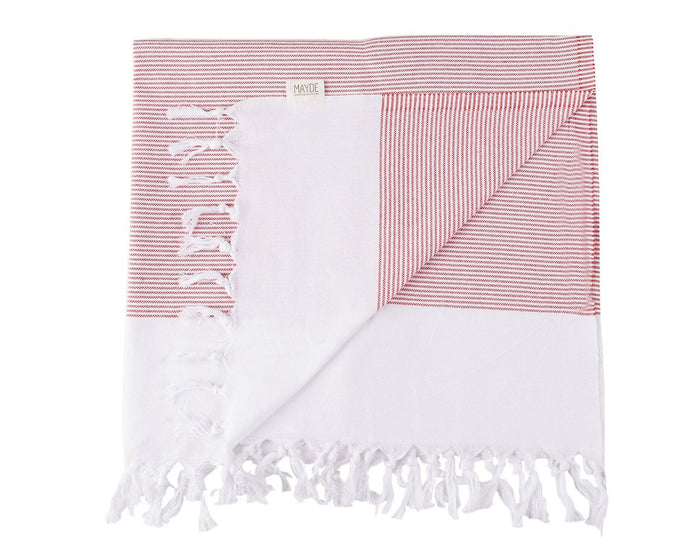 BYRON TURKISH TOWEL - APPLE RED