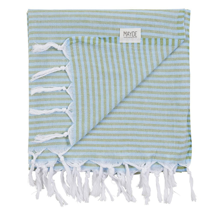 NOOSA TOWEL - CHAMBRAY / FOREST