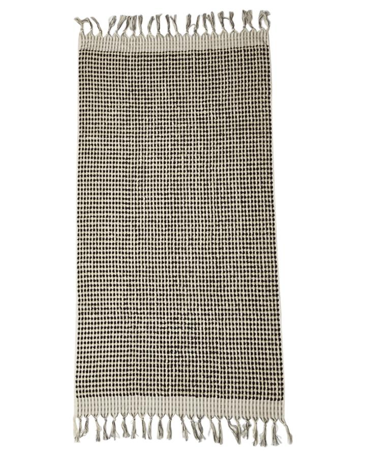 CRESCENT TOWEL - BLACK & WHITE