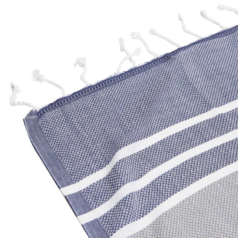 CORINDI TOWEL - GREY / NAVY