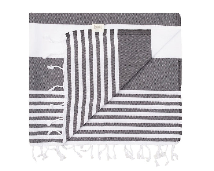 KIRRA TOWEL - BLACK / WHITE