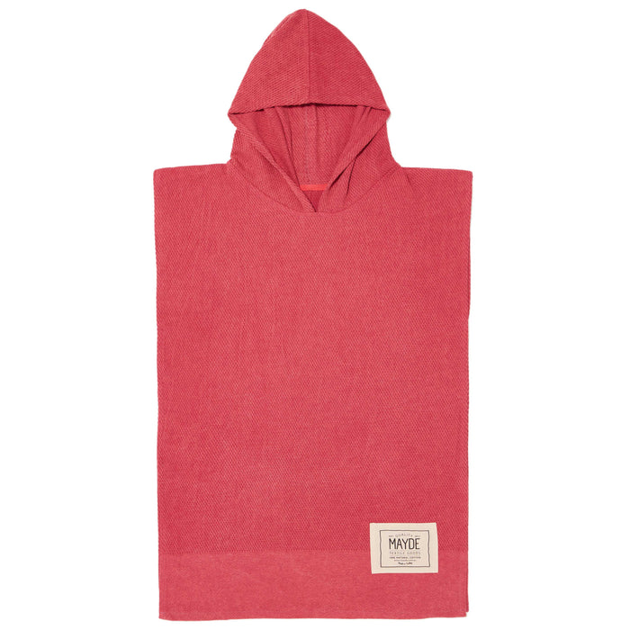 KIDS WATEGO'S PONCHO - CRIMSON