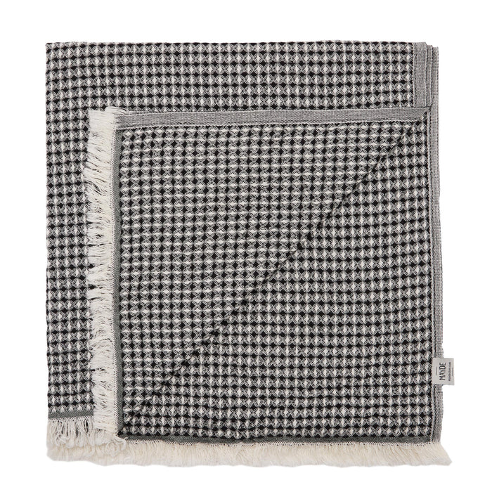 LENNOX TOWEL - BLACK / BEIGE