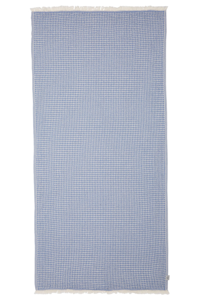 LENNOX TOWEL - DENIM / BEIGE