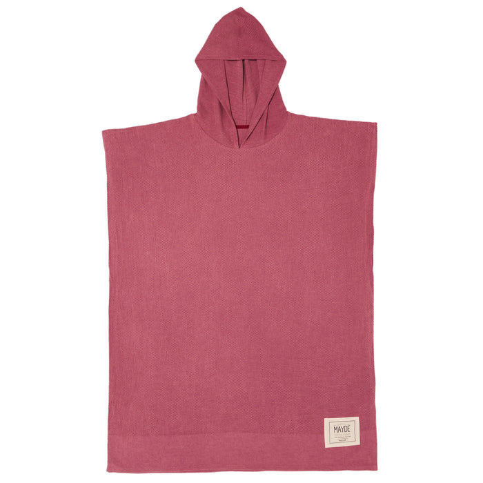 MEN'S WATEGOS PONCHO - BURGUNDY