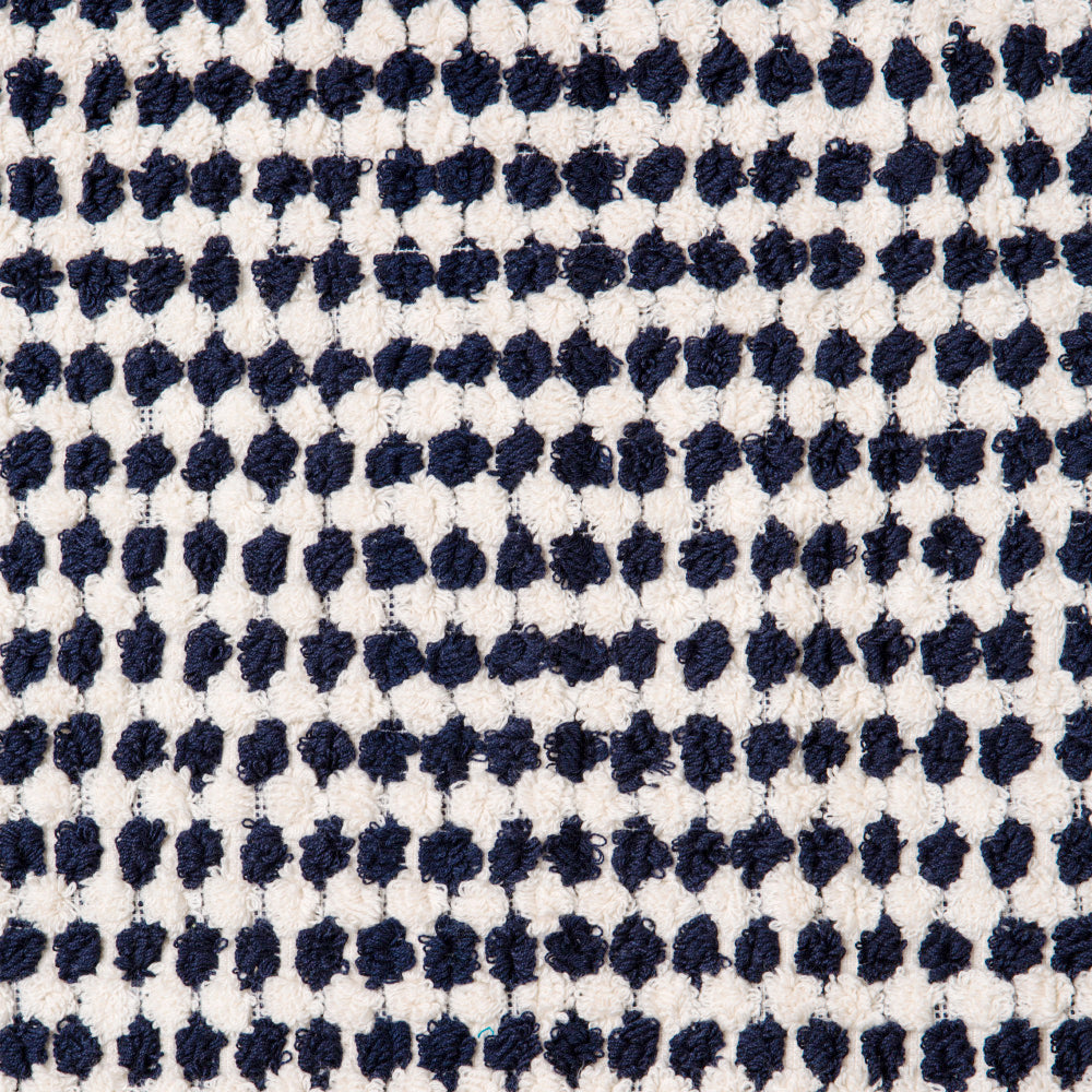 CRESCENT TOWEL - NAVY & WHITE