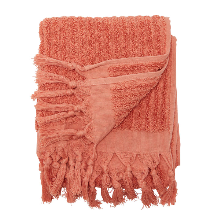 BAYVIEW HAND TOWEL - CORAL