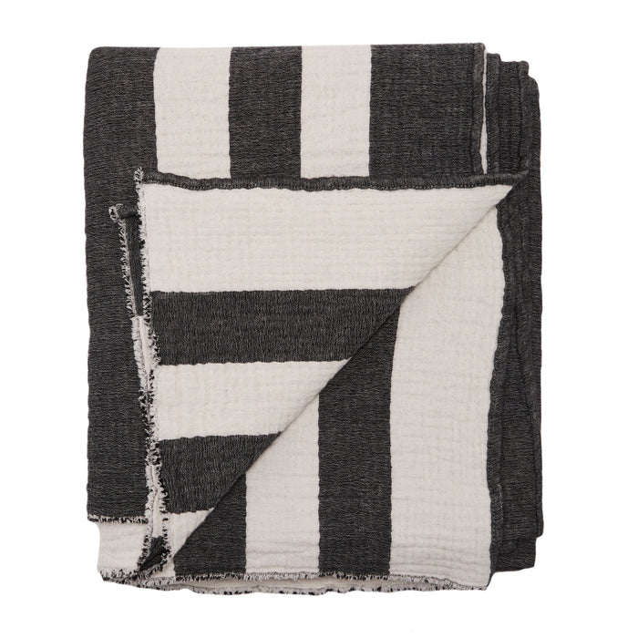 EAGLE BAY THROW - BLACK/WHITE