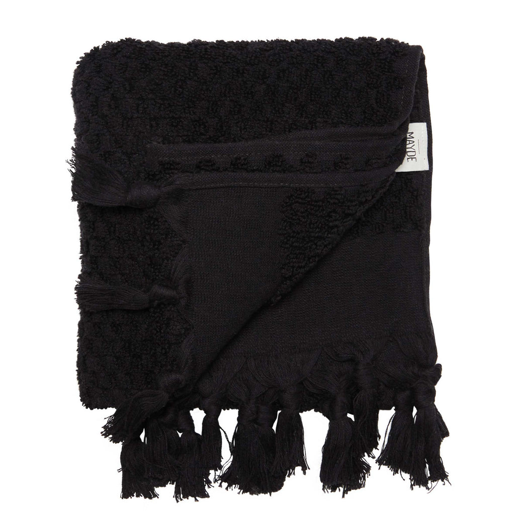 RAINBOW SOLID TOWEL SET - BLACK